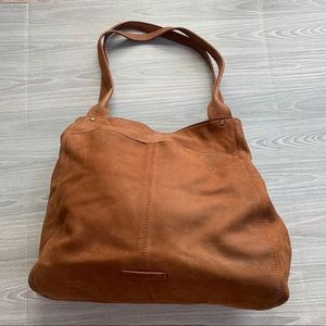 Lucky Brand Suede Leather Hobo Tote Bag